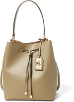 Ralph Lauren Leather Debby Drawstring Tote