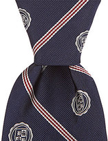 Brooks Brothers Micro BB#1 Diagonal Stripes with Crest Traditional Silk Tie