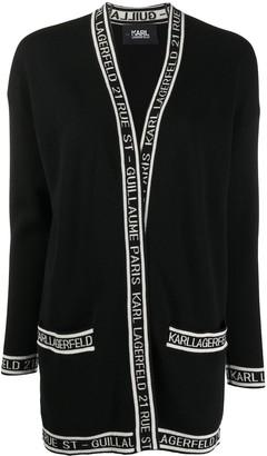 Karl Lagerfeld Paris Logo-Trim Cardigan