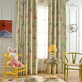 Leyden TM Grommet Top Cute Owl Print Window Curtain Panels for Kid's Room, 50-Inch by 96-Inch, Green(1 Panel) Custom Size
