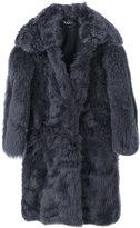 Tom Ford oversized coat - women - Silk/Lamb Skin/Lamb Fur - 38