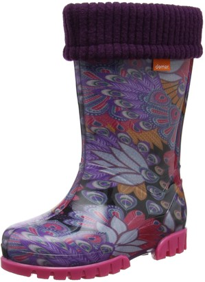 Toughees Shoes Unisex Kids' Character Welly with Removable Sock Wellington Boots