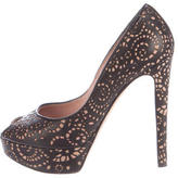 Christian Dior Laser Cut Platform Pumps