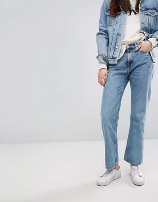 Calvin Klein Jeans True Icon Vintage High Rise Straight Ankle Jean-Blue
