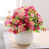 Artificial Flower Mesmj Mesmj Artificial Flowers Home Decor Wedding Bouquets Daisy-chained Ceramic Vases Red
