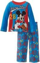 Disney Mickey Mouse Little Boys' Toddler Cozy Fleece Pajama Set