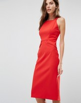 Warehouse High Neck Pencil Midi Dress