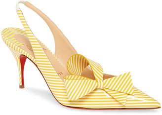 Christian Louboutin Clare Bow Pointed Toe Slingback Pump