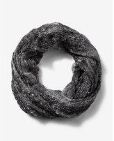 Express black metallic sequin loop scarf