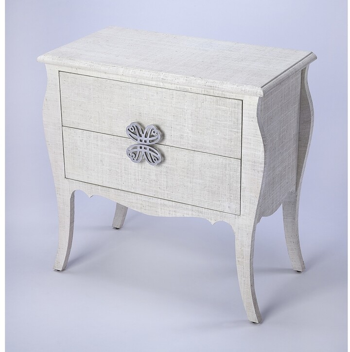 Thumbnail for your product : Butler Felicia Transitional Rectangular White Raffia Accent Chest - Off White