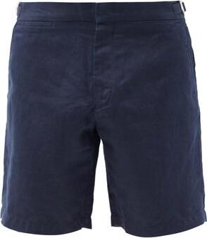 Orlebar Brown Norwich Linen Shorts - Mens - Navy