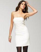 Tweed Cummerbund Strapless Mini Dress