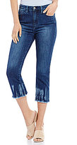 Buffalo David Bitton Ivy Tie Dye Hem Cropped Skinny Jeans