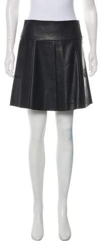 Leather A-Line Skirt w- Tags