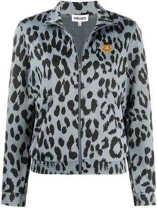 Kenzo Leopard Print Bomber Jacket