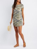 Charlotte Russe Camo Destroyed T-Shirt Dress