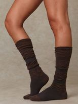 Rouched Striped Knee Sock