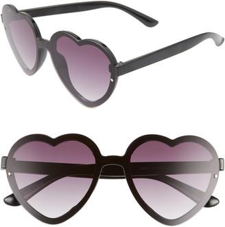 BP 52mm Flat Front Heart Shape Sunglasses