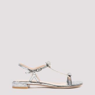Stuart Weitzman Ballsoffire Strappy Flat Sandals