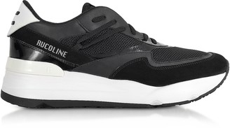 Ruco Line Black Nylon and Leather R-Evolve Men's Sneakers