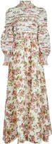 Zimmermann Radiate Smocked Dress in Linen and Silk