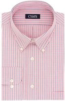 Chaps Men's Regular-Fit Plaid Wrinkle-Free Stretch Collar Dress Shirt