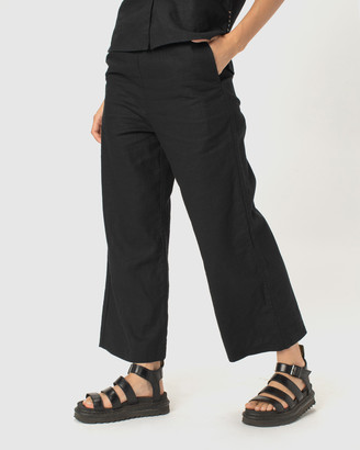 Cools Club - Women's Black Cropped Pants - Easy Pants - Size One Size, 6 at The Iconic