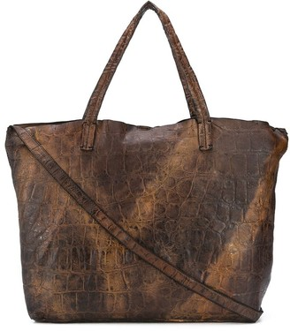 Numero 10 Belen embossed tote bag