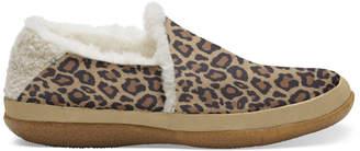 Toms Womens Desert Tan Leopard Micro India Slip - US 6