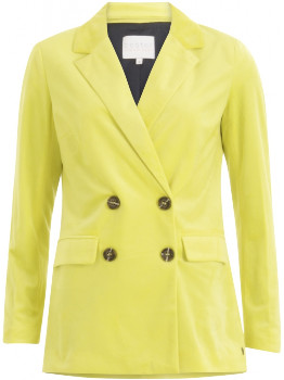 Coster Copenhagen - Suit Jacket with Button Closure - Neon Yellow - polyester | Size 38 (UK 12)