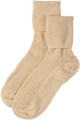 Johnstons of Elgin Natural Womens Cashmere Socks