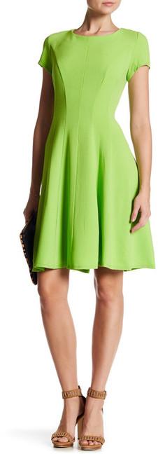Sandra Darren Short Sleeve Fit & Flare Dress