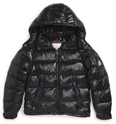 Moncler Boy's 'Maya' Shiny Water Resistant Down Jacket