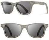 Shwood Men's 'Canby' 54Mm Polarized Stone Sunglasses - White Slate/ Grey