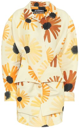 Jacquemus La Robe Murano cotton-blend dress