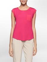 Calvin Klein Chest Pocket Short Sleeve Top