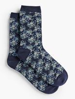 Talbots Allover Floral Trouser Socks