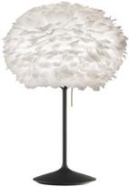 EOS Umage UMAGE - Medium White Feather With Black Stand Table Lamp - Black/White