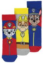 George Paw Patrol 3 Pack Assorted Socks