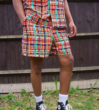 ASOS MADE IN KENYA check print shorts co ord