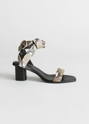 And other stories Leather Criss Cross Heeled Sandals