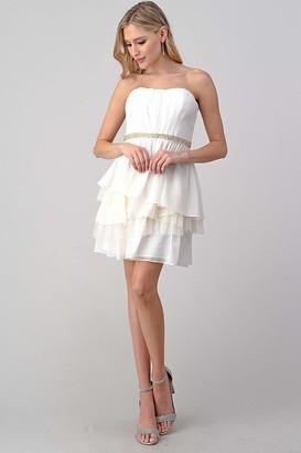 Minuet Womens Chiffon Dressed with Layered Skirt