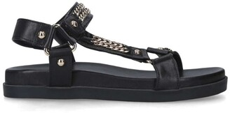 Carvela Leather Chain-Detail Kostello Sandals
