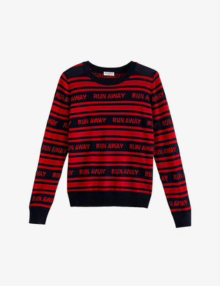 Claudie Pierlot Slogan-print wool jumper
