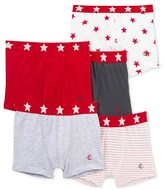 Petit Bateau Set of 5 boys whimsical boxers
