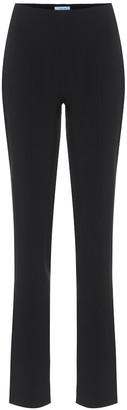 Thierry Mugler High-rise skinny crApe pants