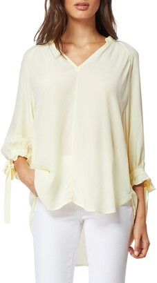 Habitual Nina Tie Sleeve Peasant Top