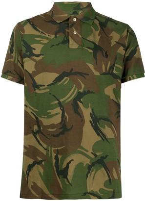 Polo Ralph Lauren camouflage-print short-sleeved polo shirt
