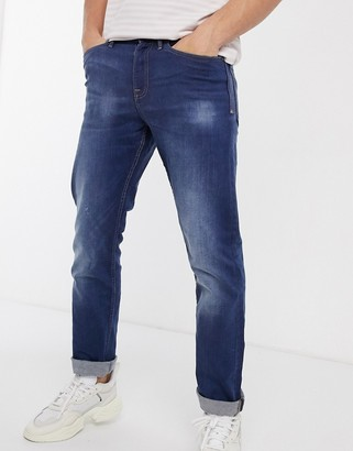 New Look straight jeans in bright blue