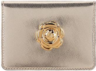 Oscar de la Renta Light Gold Card Case